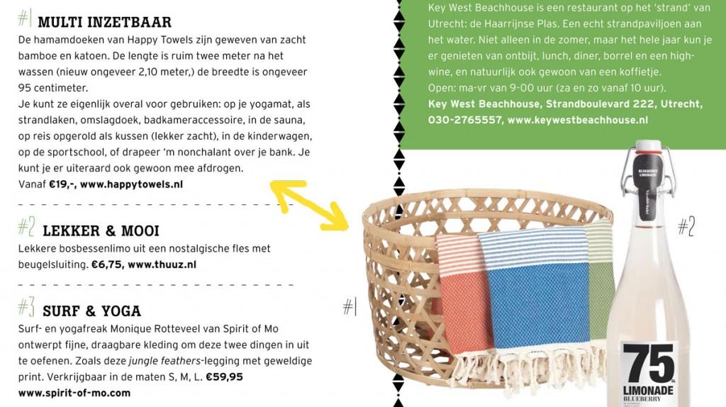 Hamamdoeken van Happy Towels in Buitenleven