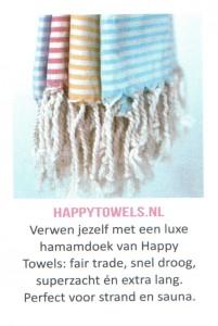 Hamamdoeken van Happy Towels in tijdschrift Flow