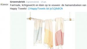 fairtrade lichtgewichte hamamdoeken van happy towels