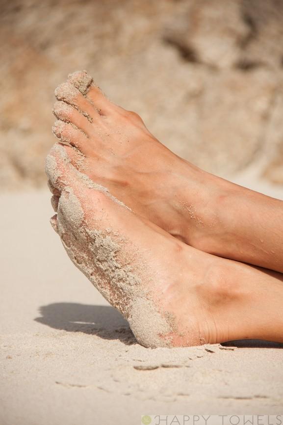zanderige voeten door het hoofd-voeten-dilemma
