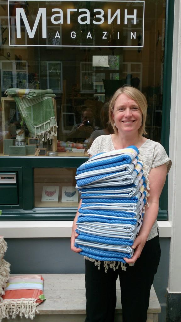 Margo van Magazin met hamamdoeken