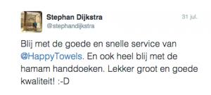 Tweet van Stephan Dijkstra