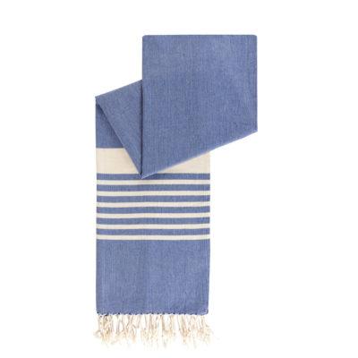 blauwe hamamdoek