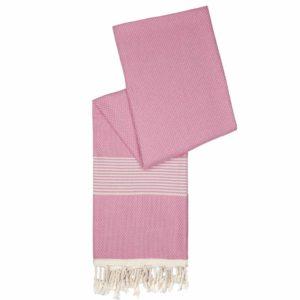 Hamamdoek bamboe | flamingo roze