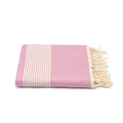 Hamamdoek bamboe, pastel roze