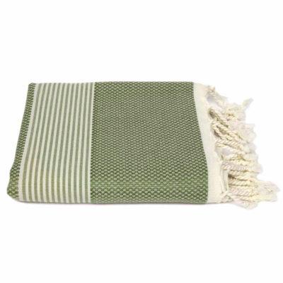 Hamamdoek bamboe | olijfgroen