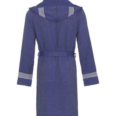 Badjas met capuchon   donkerblauw   fitted model