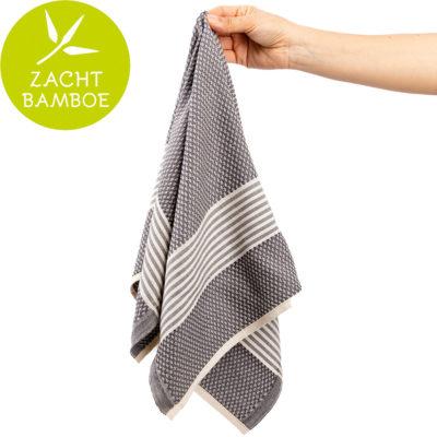 Keukenhanddoek | bamboe grijs | prijs per twee