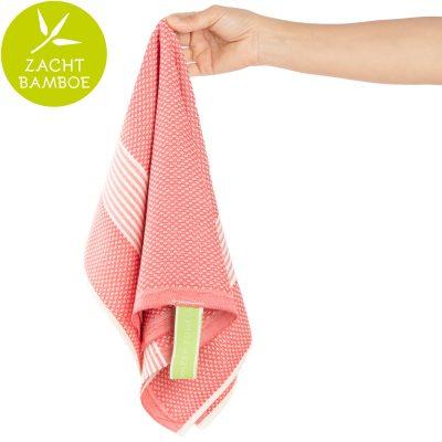 Keukenhanddoek | bamboe watermeloen rood | prijs per twee