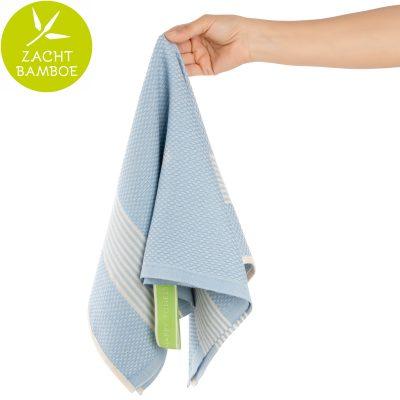 Keukenhanddoek | bamboe lavendel blauw | prijs per twee