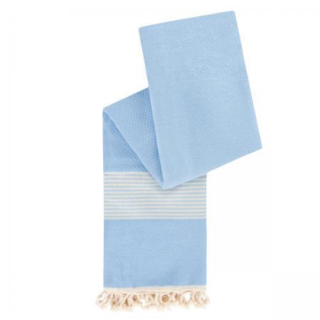 hamamdoek grijsblauw staand
