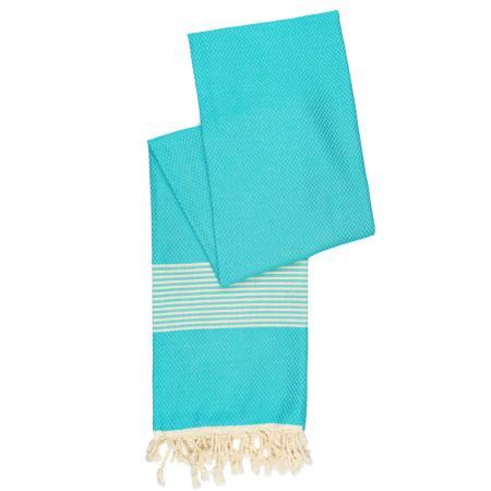 aqua-blauwe-hamamdoek-staand
